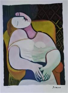 PABLO PICASSO (AFTER), THE DREAM, LITHOGRAPH S/N