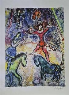 Marc Chagall (After), Circus, Lithograph Facsimile