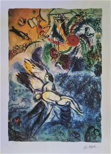 Marc Chagall (After), The Creation of Man, Lithograph