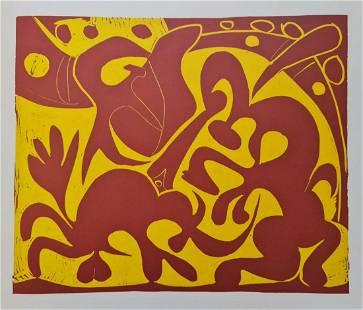 """Pablo Picasso (After), """"La Pique en Rouge et Jaune"""""""