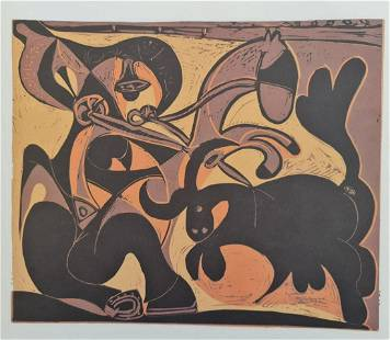 """Pablo Picasso (After), """"Pique (Bullfight)"""" Original"""