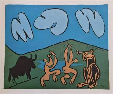 """Pablo Picasso (After), """"Bacchanale au Taureau Noir"""""""