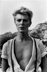 Helmut Newton, David Bowie, Monte Carlo 1983, Silver