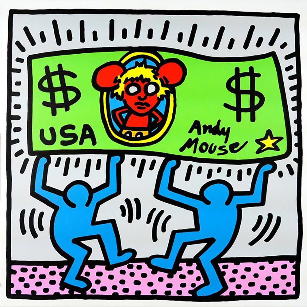 ANDY WARHOL - KEITH HARING, ANDY MOUSE III, 1986