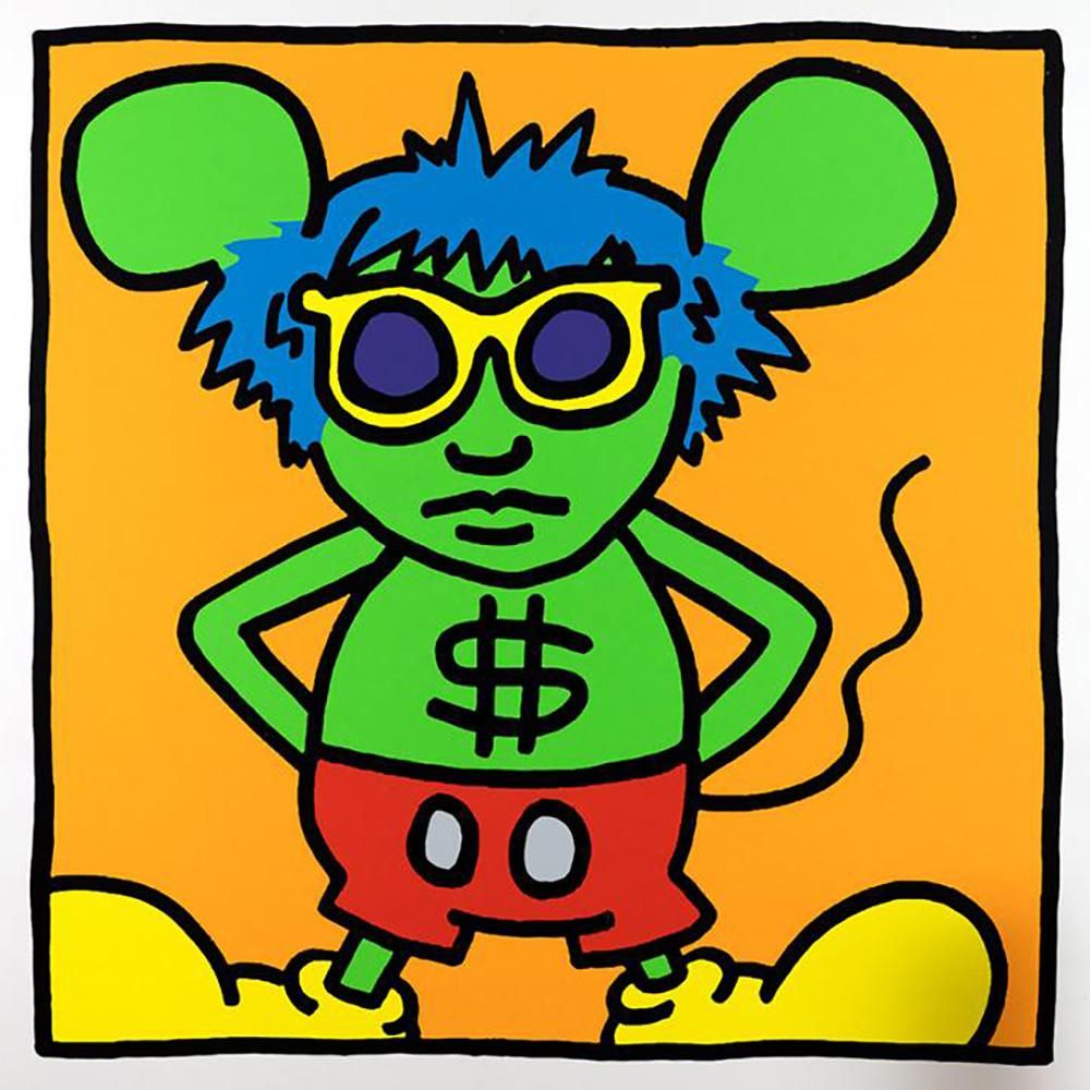 ANDY WARHOL - KEITH HARING, ANDY MOUSE IV, SCREEN PRINT