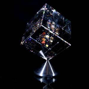 "Jon Kuhn, ""Autumn Breeze 2020"" Original 1/1 Glass Cube"