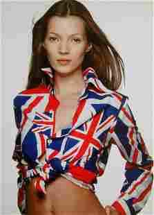 Terry O'Neill, Kate Moss, Union Jack, 1995, Chromogenic