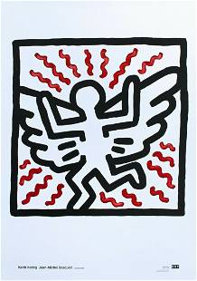 """KEITH HARING FOUNDATION """"WINGS"""" EXHIBITION POSTER"""