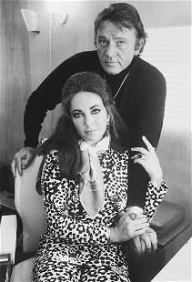 Terry O'Neill, Elizabeth Taylor and Richard Burton,