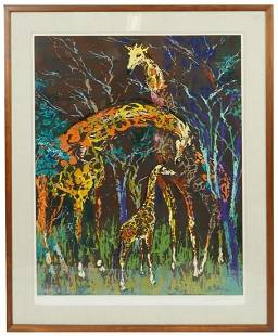 "LeRoy Neiman ""Giraffe Family"" Serigraph, Signed/Number"