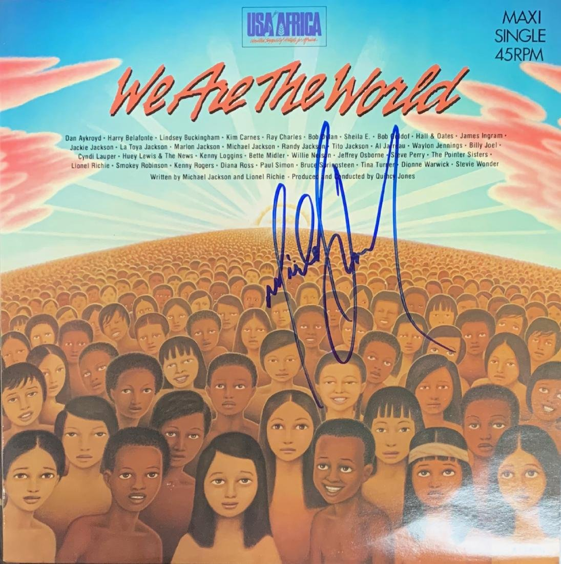 We are the World Autographed Album Jackson