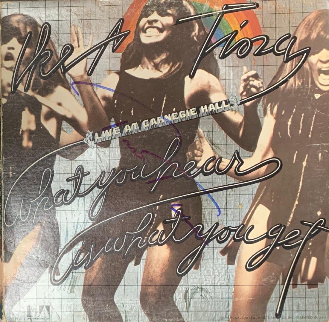 Tina Turner Autographed Album