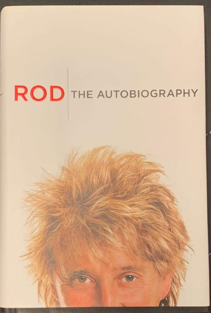 Rod Stewart Autographed Book