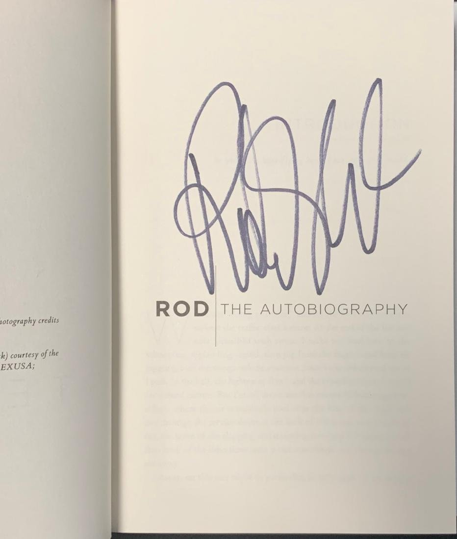 Rod Stewart Autographed Book - 2