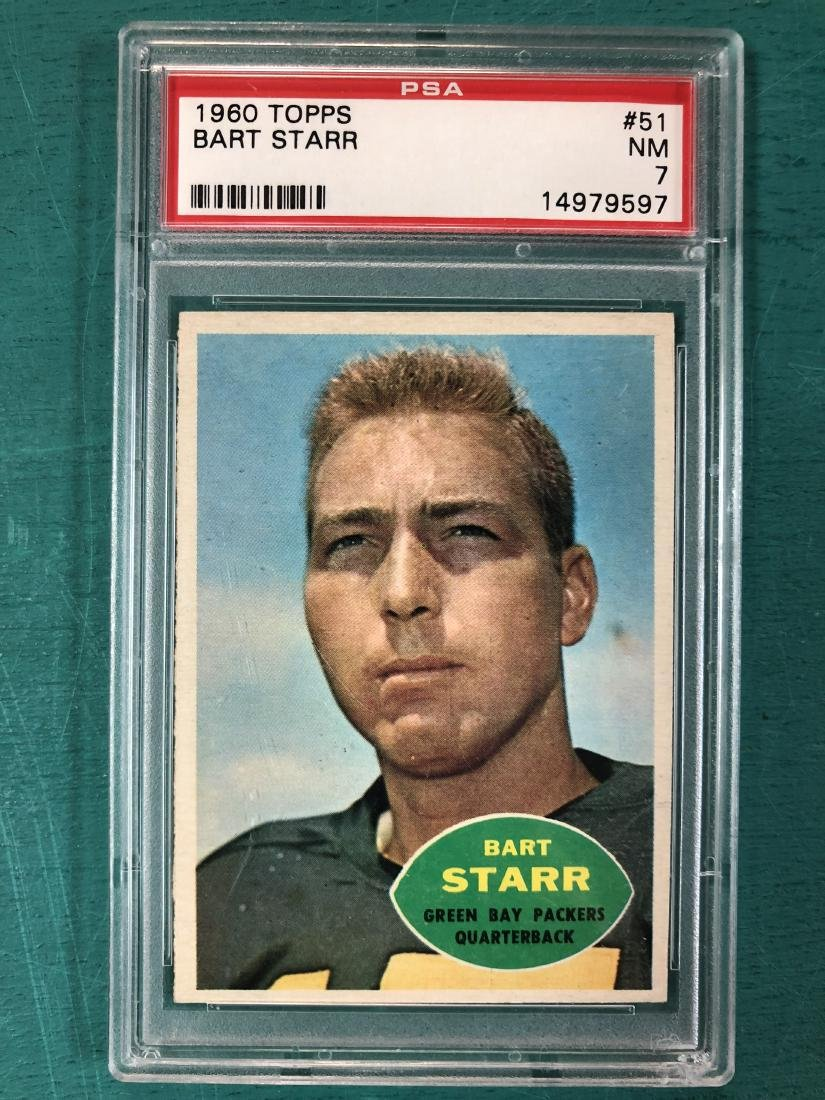 1960 Topps Bart Starr Card With PSA COA