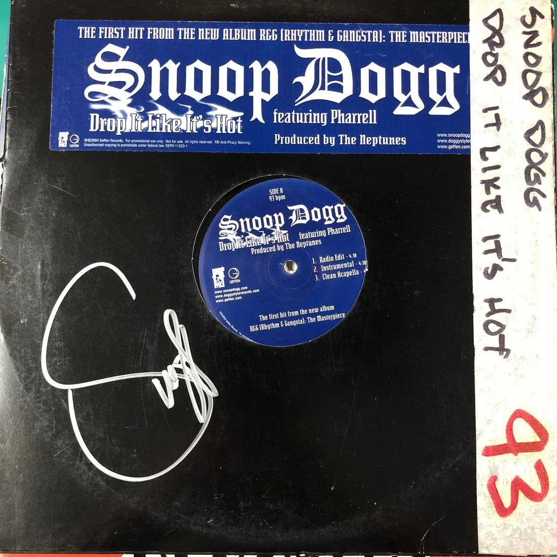 Snoop Dogg Autographed Album Cover