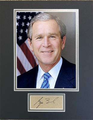 George W. Bush Autographed Display!