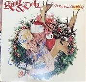 Dolly Parton Kenny Rogers Autographed Album