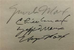 Marx Brothers Cut Autograph