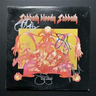 Black Sabbath Autographed Album Cover Only