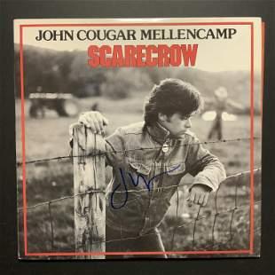 John Cougar Mellencamp Autographed Album Cover Only
