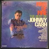 Johnny Cash Autographed Album Cover