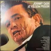 Johnny Cash Autographed Album Cover Only, No Vinyl