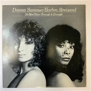 Donna Summer Autographed Album Cover