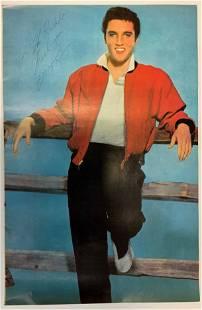 Elvis Presley Autographed Mini Poster