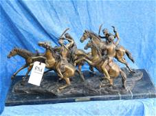 """""""OLD DRAGONS"""" bY FREDERICK REMINGTON BRONZE"""