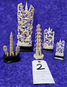 5 IVORY ORIENTAL CARVINGS (TX RESONLY) (5x$)