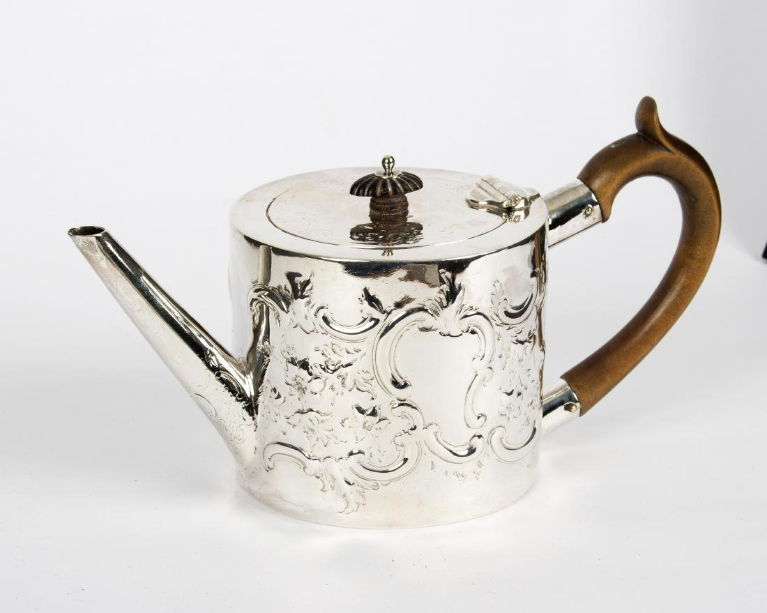 George III Silver Drum Teapot from