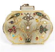 A Mughal style gem set pendant/brooch, depicting birds