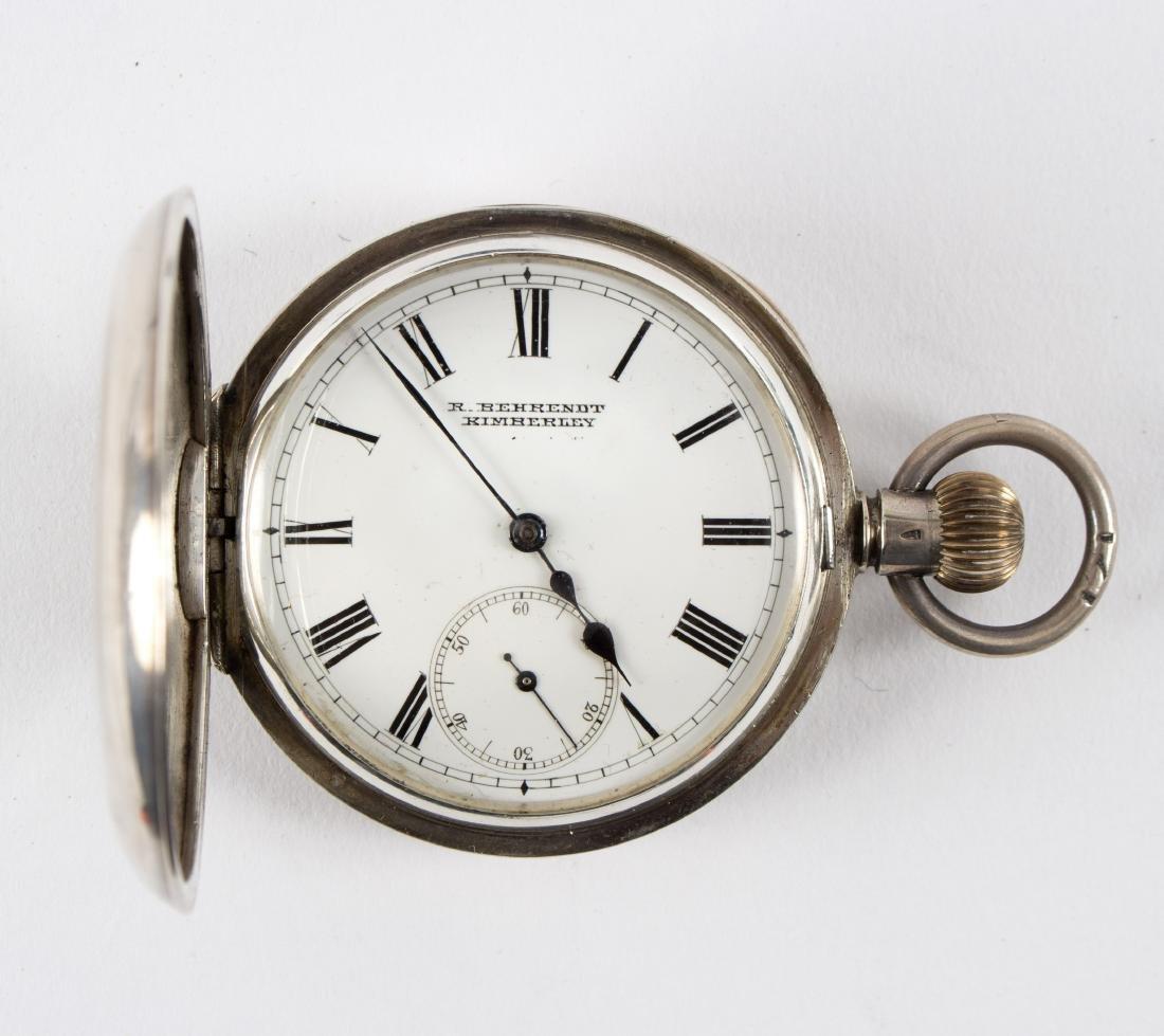 A silver half-hunter pocket watch by R Behrendt of