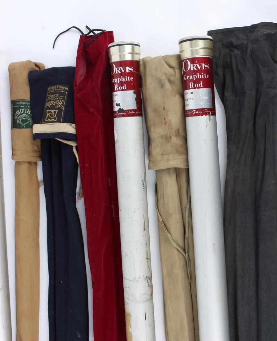 Sundry fishing kit, rods, spinning reels,