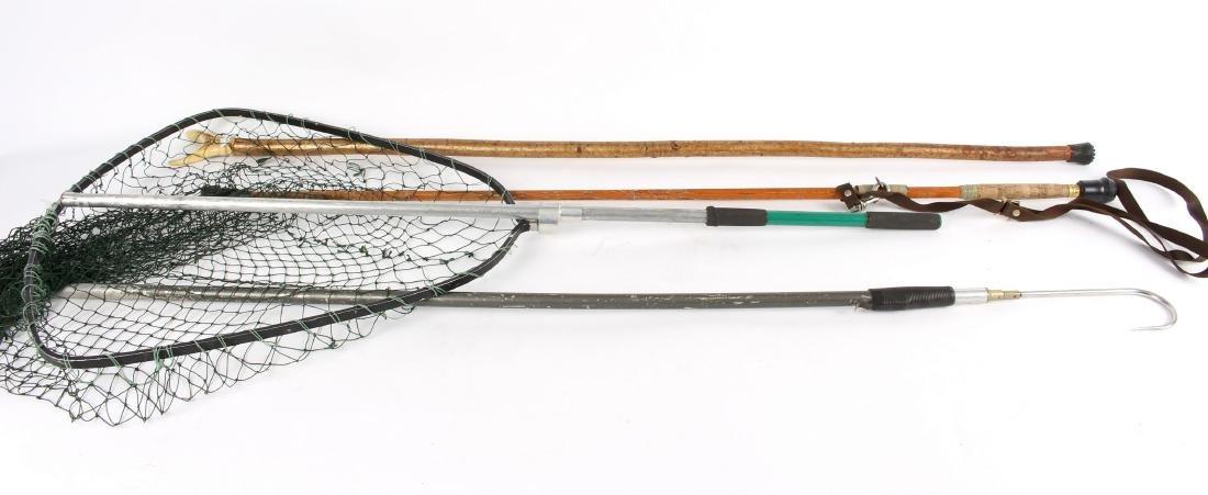 Sundry fishing kit, rods, spinning reels, - 3