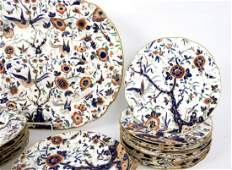A 19th Century Staffordshire part dinner service of