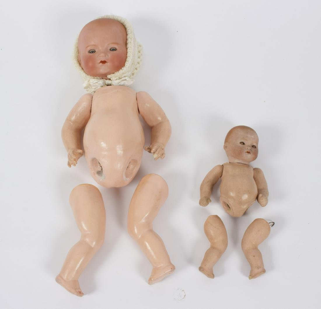 Two Armand Marseille bisque head dolls with composite