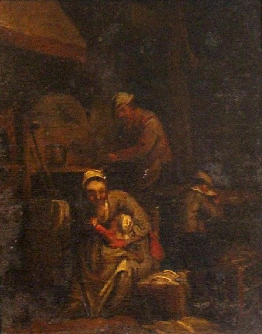 Follower of David Teniers/Family in an Interior/oil on
