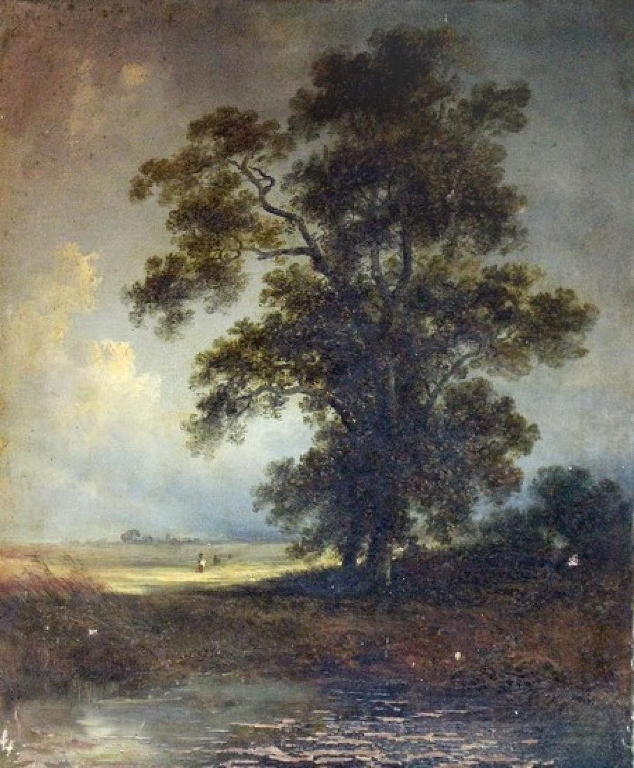 19th Century English School/Landscape/oil on canvas,