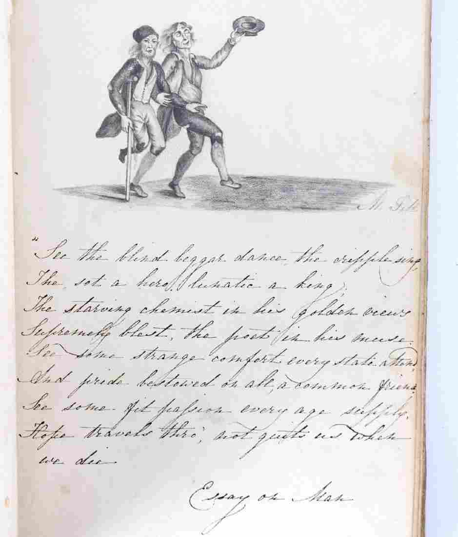 A late Regency album containing script, Lepidoptera and