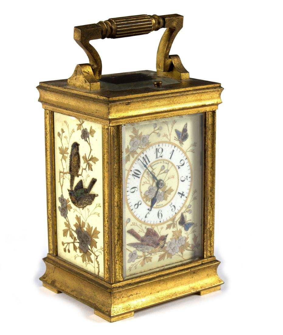 A French carriage clock, Edward & Sons, Paris, with