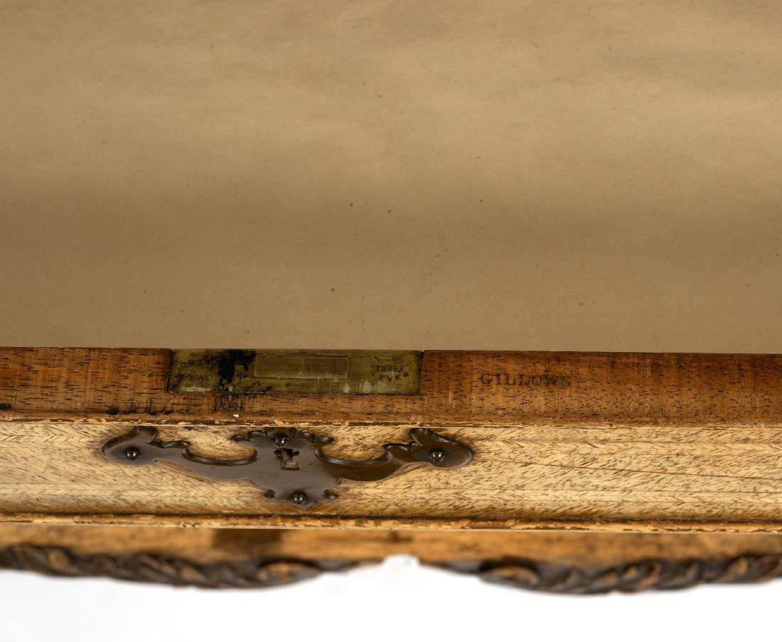 A Gillow chest of three drawers on carved cabriole - 2