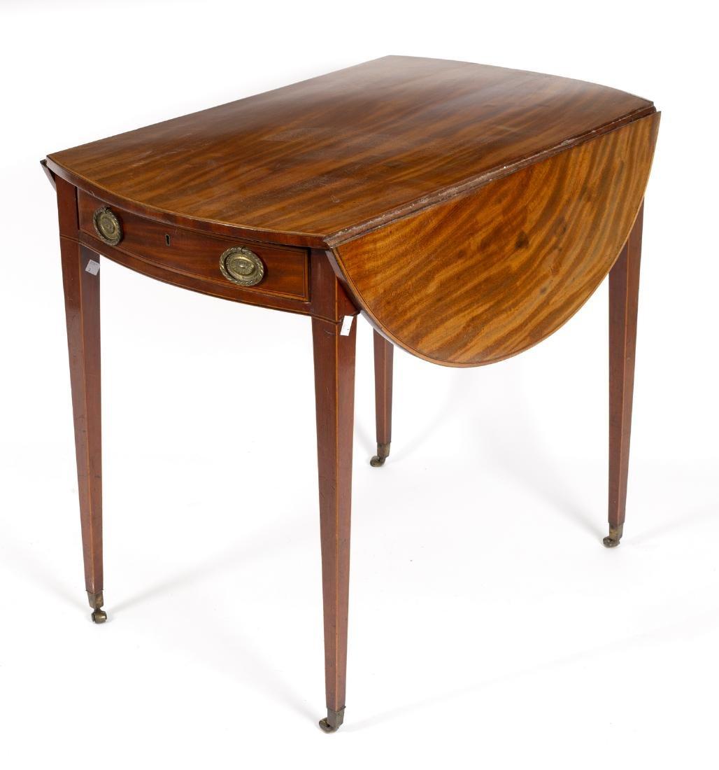 A George III mahogany Pembroke table with boxwood