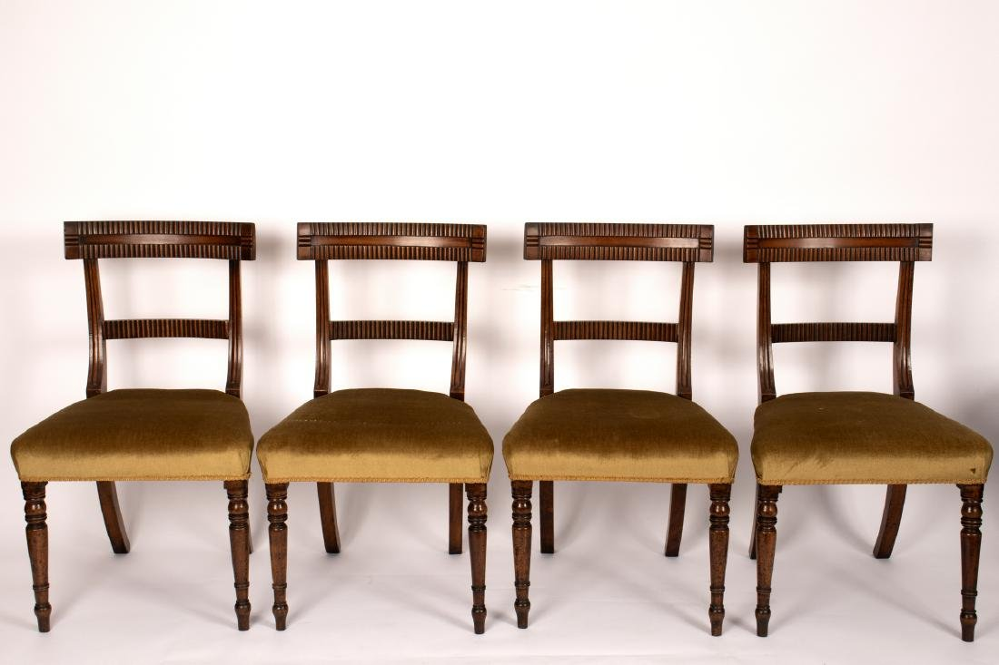 A set of six early Victorian mahogany dining chairs