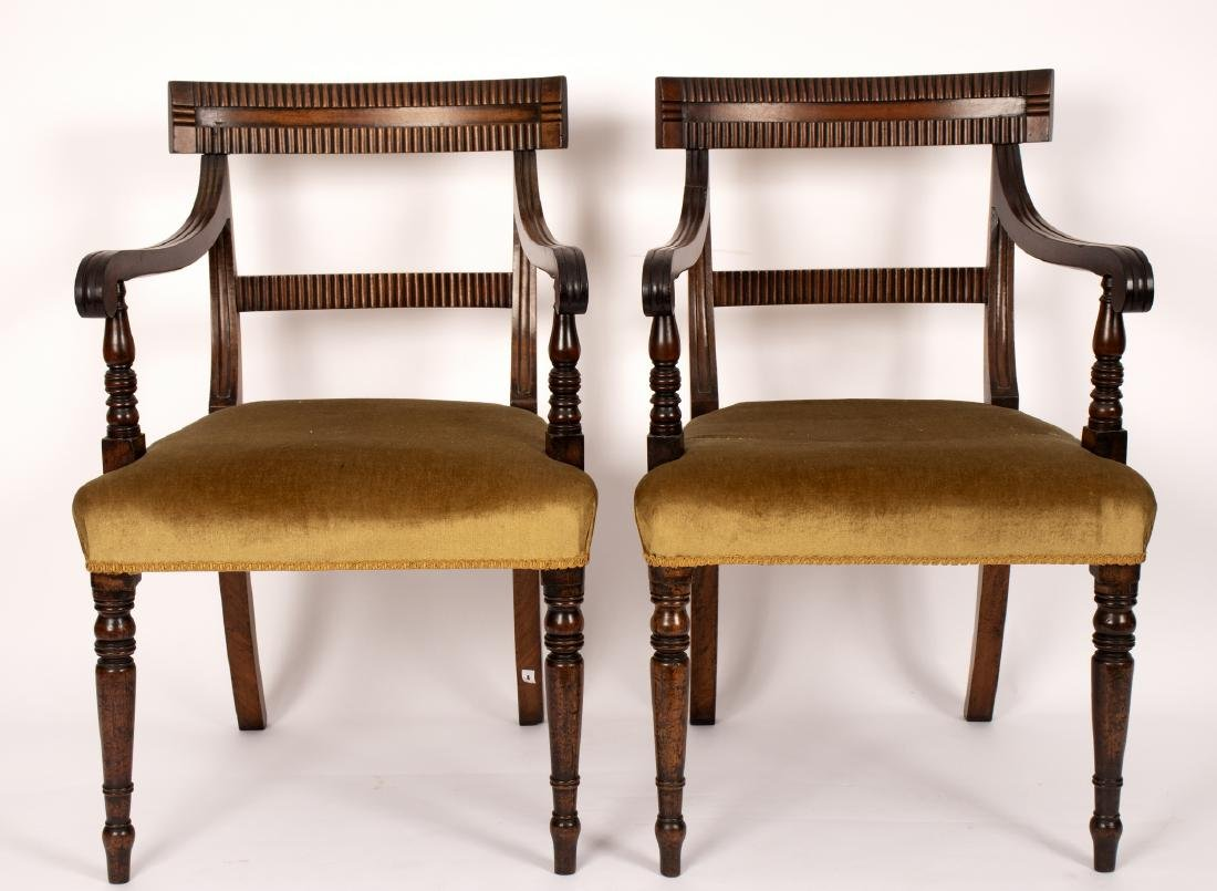 A set of six early Victorian mahogany dining chairs - 2