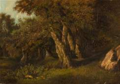 Attributed to William Henry Banks Davis/Wooded