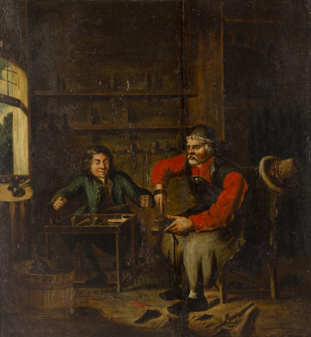 Early 19th Century Continental School/The Cobbler and