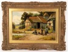 Robert John Hammond (1879-1911)/Farmyard Scene with