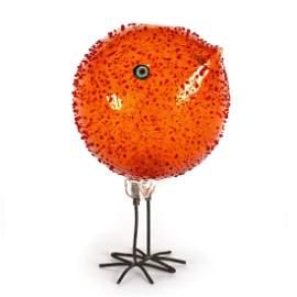Alessandro Pianon for Vistosi, a Pulcini orange glass